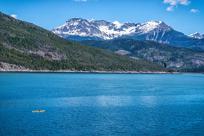 A perfect day on the water, Kayakers in Lutak Inlet