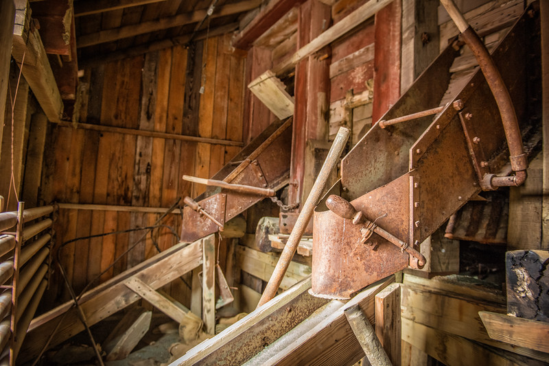 Inside the Kennecott Mill. Fourteen levls all making a lot of racket and dust.