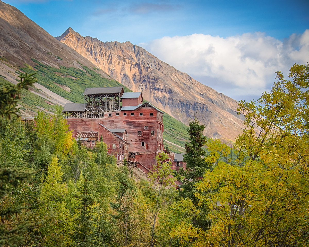We will explore the Kennecott Mill next. This was a welcome sight yesterday as we were on the last leg (literally) of a nine mile hike on and around the Root Glacier. Too much photo gear in the pack and a broken toe. No pain, no gain. Time for Motrin and vodka.