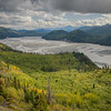 Along the McCarthy Road, we are afforded a wonderful overview of the Chitina River braiding its way toward its confluence with the Copper River.