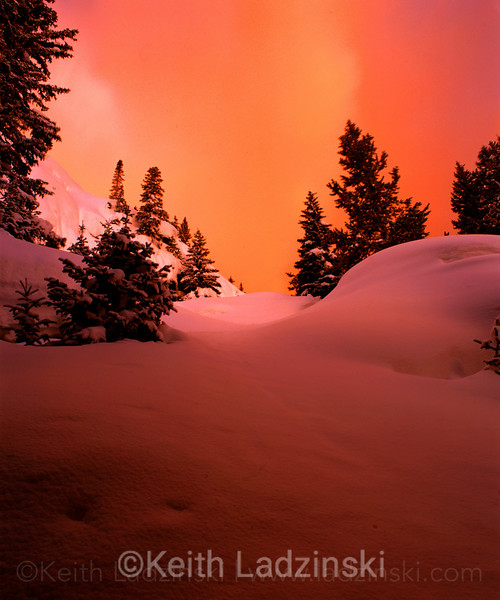 winter sunrise, rocky mtn nat park