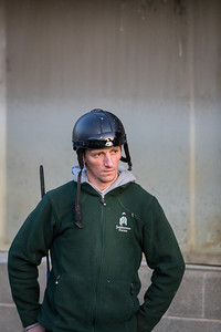 Rudolphe oversees the morning routine at Keeneland 4.18.18