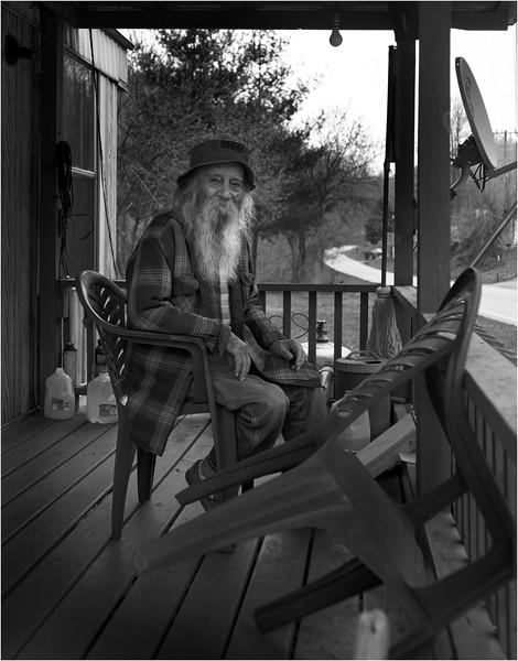 Appalachia West Virginia April 2007 Man on a Porch