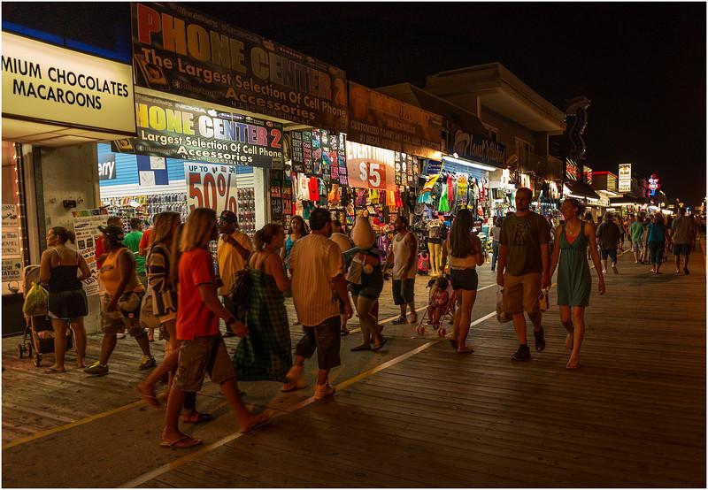 Wildwood NJ Boardwalk at Night September 2012