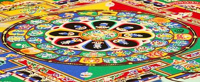 Tibetan sand painting.