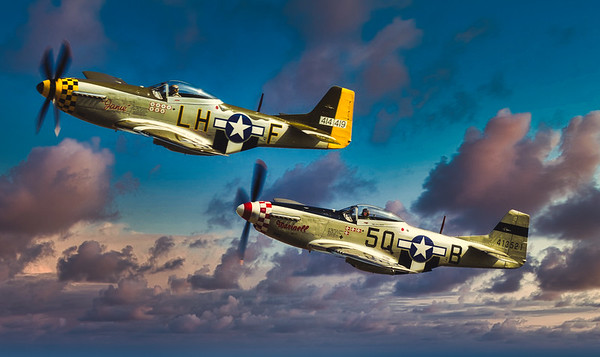 P-51Ds 'Janie' and 'Marinell'