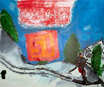 Lucas' birthday painting