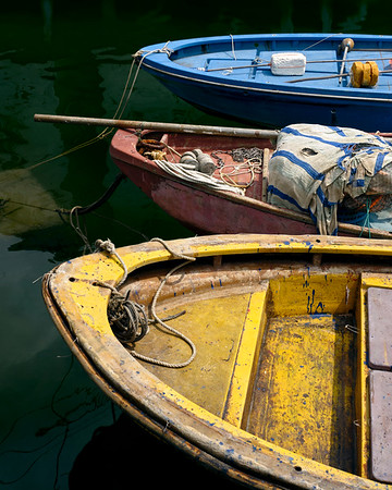 Colorful Boats In Tai O Fishing Village - Hong Kong