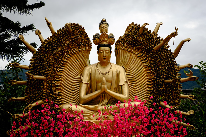 Thousand Hands Buddha Statue In Ten Thousand Buddhas Monastery In Hong Kong Hong Kong
