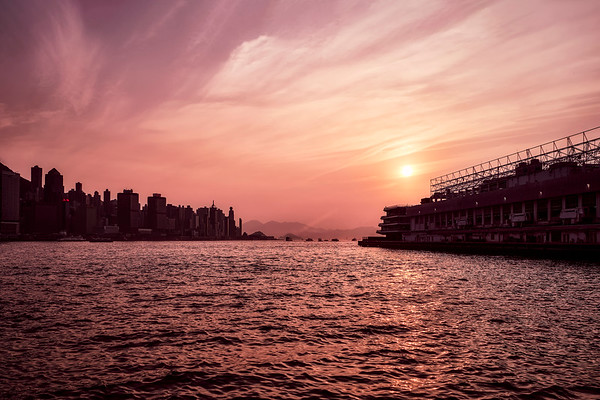 Sunset Over Victoria Harbour - Hong Kong