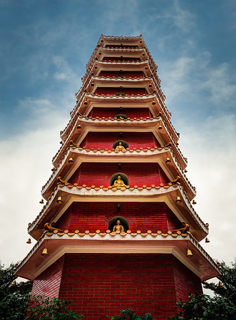 Nine-Storey Pagoda At Ten Thousand Buddhas Monastery