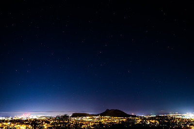 Another attempt at shooting the stars tonight up Blackford Hill - thankfully just 5 mins drive from home in Edinburgh.  This time was more successful due to clearer skies - although it was freezing at the top.