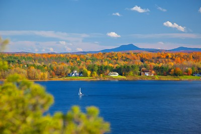 Camels Hump View over Shelburne Bay Shelburne, VT