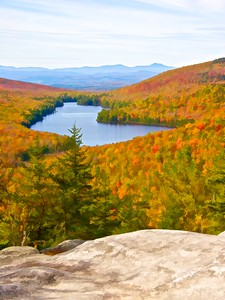 Kettle Pond from Owls Head II Marshfield, VT
