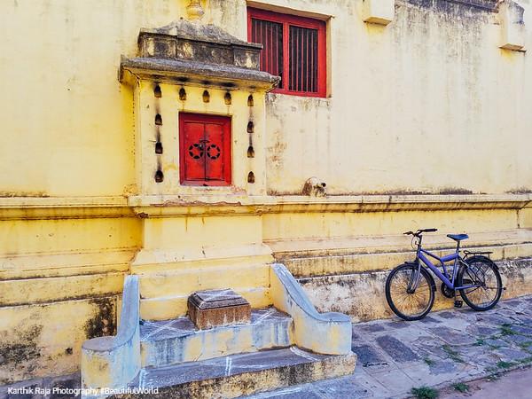 Bicycle, Mysore Palace, Karnataka, India