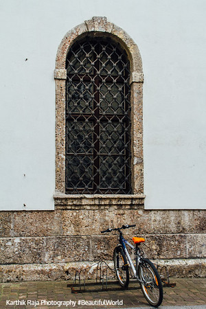 Bicycle, Window, Innsbruck, Austria