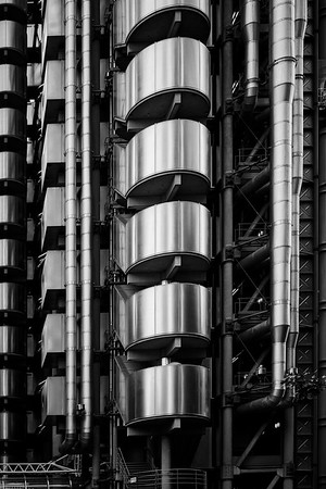 Lloyds of London Building External Staircase - London, UK