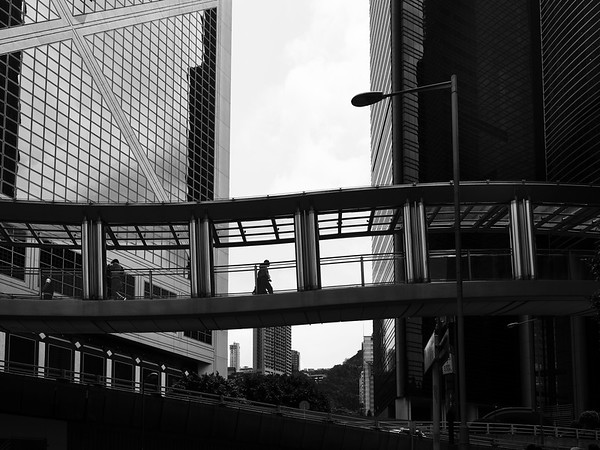 Pedestrian Skybridge In Central - Hong Kong