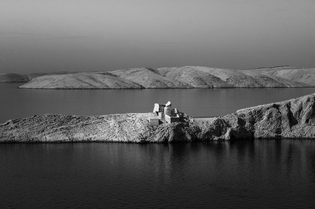 Ruins of ancient Fortress Fortica on Pag Island, Croatia