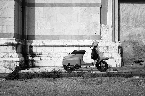 Parked Lambretta Scooter - Lucca, Italy