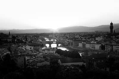 Ponte Vecchio And The Arno River