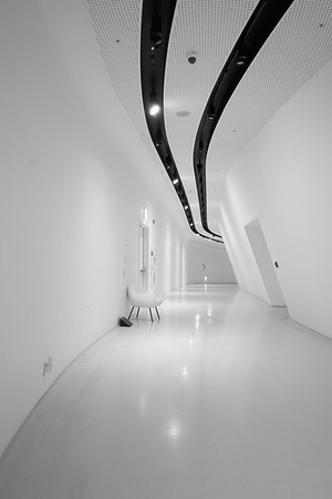 Empty Hallway At Dongdaemun Design Plaza - Seoul, South Korea