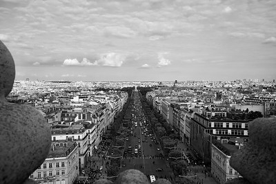 Looking Over The City Of Paris From Arc de Triomphe