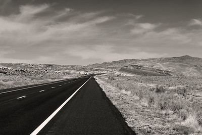 Empty U.S. Hwy 89A - Marble Canyon, Arizona
