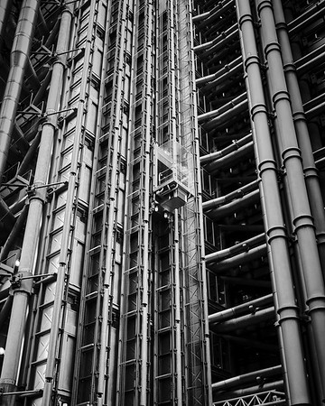 External Stainless-Steel Tubes - Lloyds of London Building  - London, UK