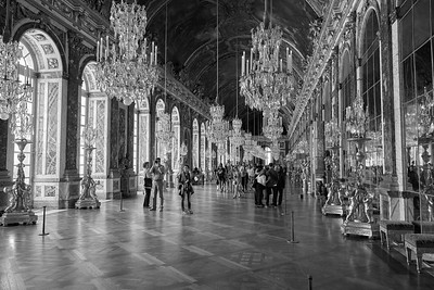 Hall Of Mirrors At The Palace of Versailles - Paris, France