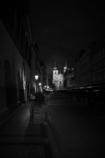 Church Of St Havel At Night - Prague, Czech Republic