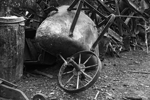 Wheelbarrow, slightly used.