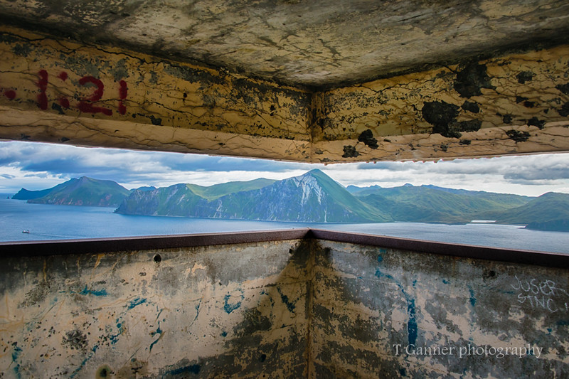 Looking out from a pill box on Mount Ballyhoo.