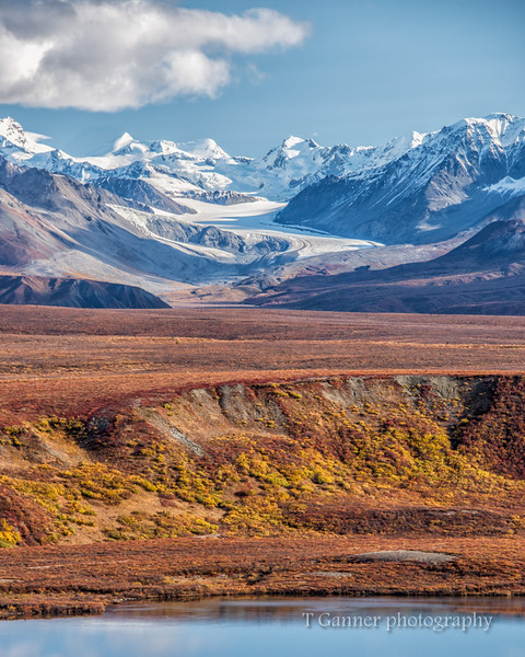 Gulkana Glacier, as seen from the Denali Highway