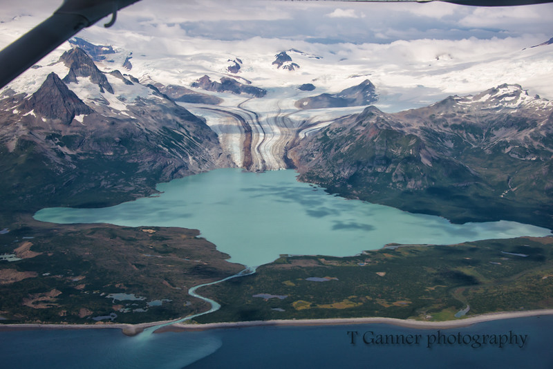 Flying over Katmai National Park