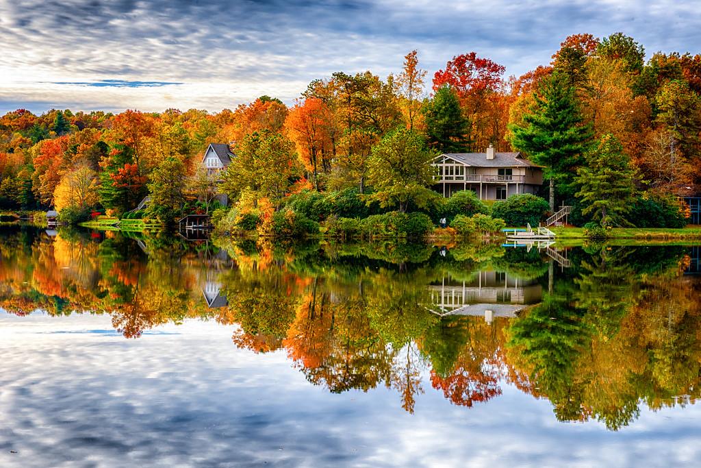 Reflections on Atagahi Lake; Connestee Falls, Brevard, NC