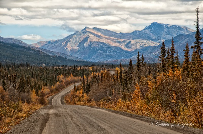 The beginning of the Dempster Highway