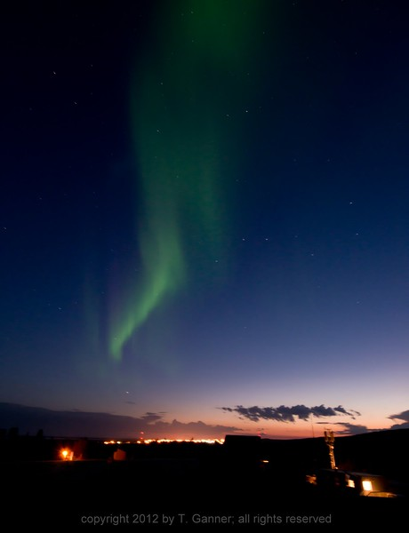 The Northern Lights above Inuvek
