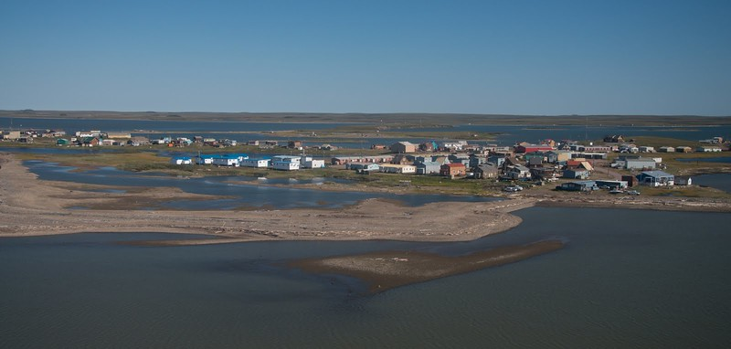 The Inuit fishing village of Tuktoyaktuck