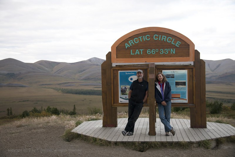 "The ""Dempster Substitution Chart"" likens arriving the the Arctic Circle for the first time to receiving a phone call from your best friend. I could not agree more, and here I am with my best friend too! How lucky can a fellow be?"