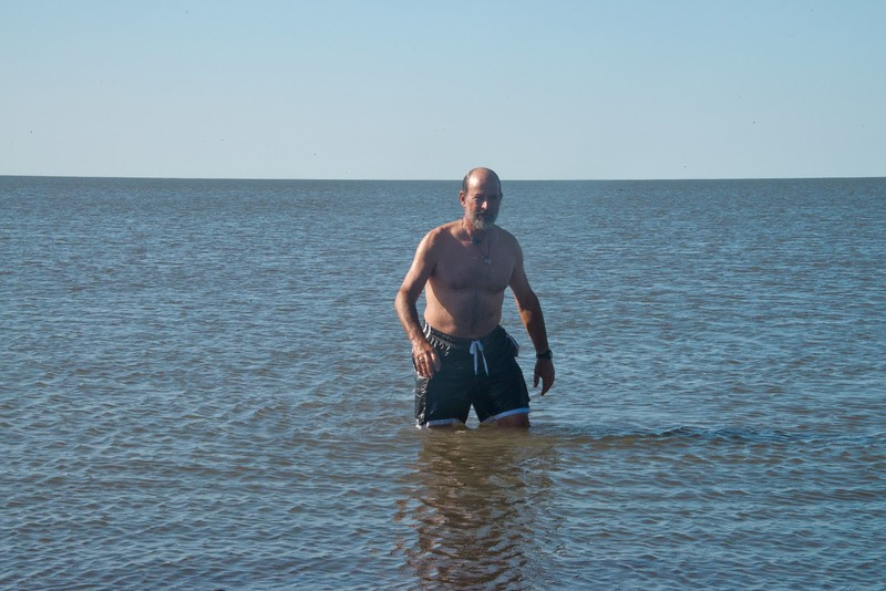 Swimming in the Arctic Ocean was not on my bucket list, but getting back out again was suddenly on my list.