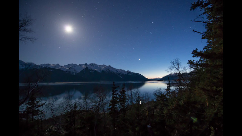 Seagulls and sea lions sing in concert as the hooligan run up the Chilkat Inlet on a clear moonlit evening. This is why I return in the spring, to enjoy this concert from my deck.