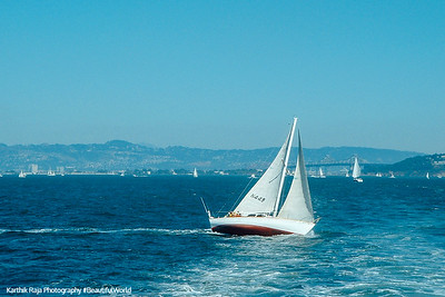 A white skiff, San Francisco, California