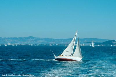 A white skiff, San Francisco, California