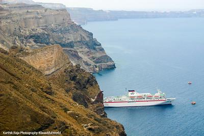 The Thira bay - Skala Thiras, Santorini, Greece
