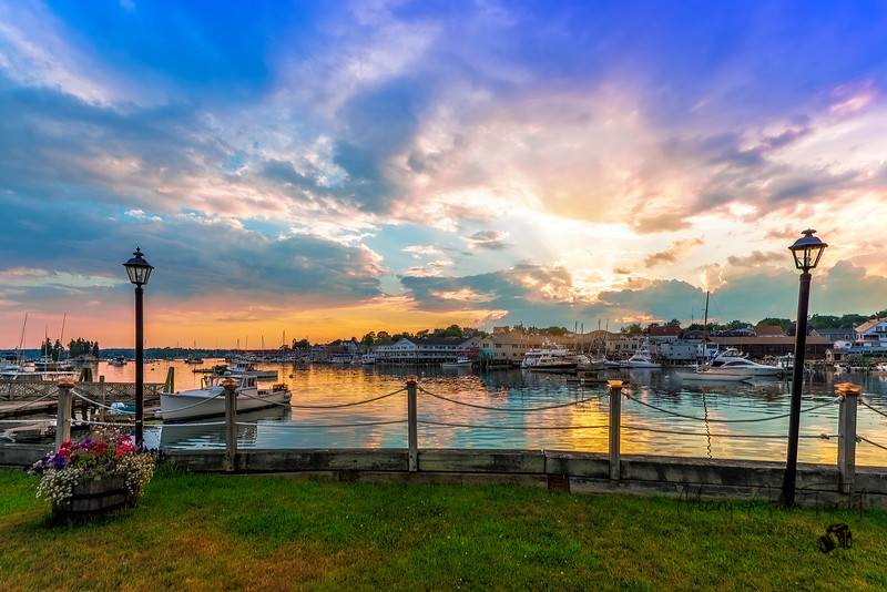 Booth Bay Harbor Setting Sun