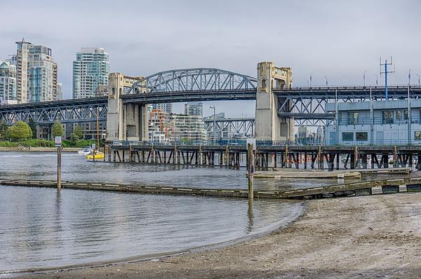 Burrard Bridge at Low Tide