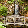 Footbridge and Waterfall