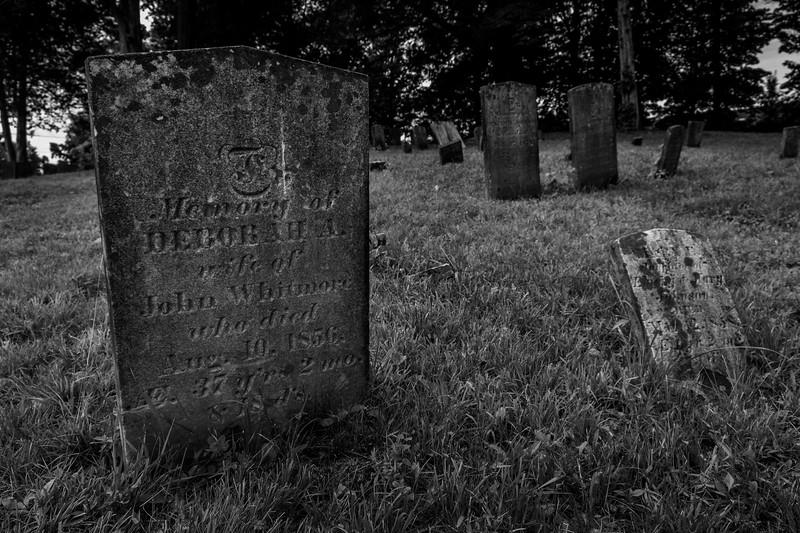 New Paltz NY Hampton Inn Graveyard 1 BW July 2017