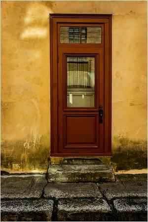 Canada Quebec City Upper Old Town September 2015 Rue Christie Red Door